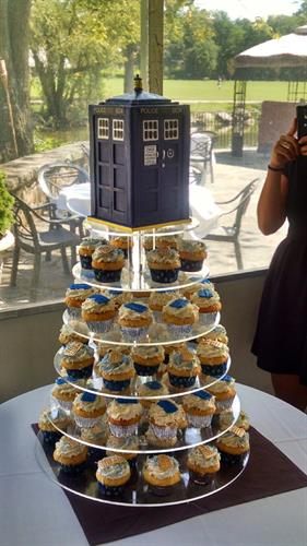 Huascar & Co. Bakeshop Dr. Who Cupcake Tower w/TARDIS Cake