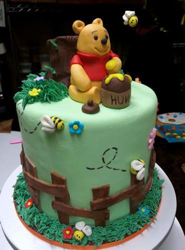 Huascar & Co. Bakeshop Winnie the Pooh Baby Shower Cake