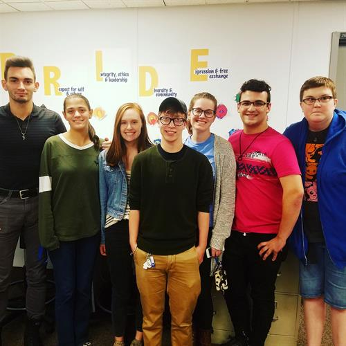The Pride Network young people of Hofstra University.