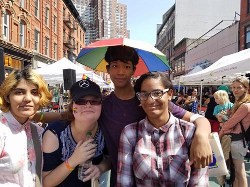 Pride Network youth at Jersey City Pride.