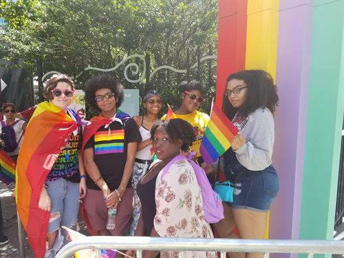 Pride Network youth at 2017 NYC YouthPride event