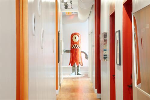 Meet in SoHo Hallway