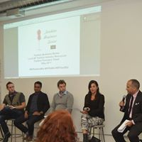 Moderating the conference on start-up funding in San Francisco.