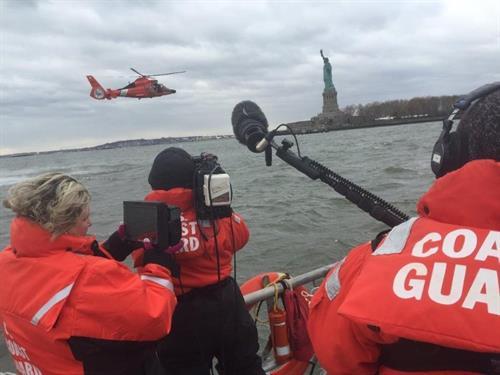 Shana Directing a Coast Guard PSA
