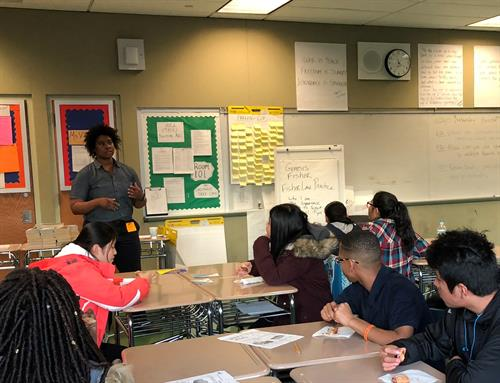 Genesis Fisher gives back by speaking with high school and college students about the criminal justice system.