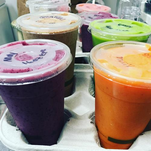 Our Smoothies are the best in town made with real food!  Big O Takeout does our Delivery!