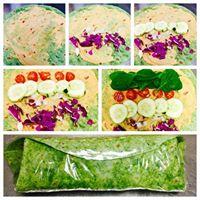 Heavenly Hummus Veggie Wrap on Gluten free Spinach Wrap