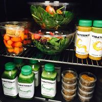 We serve a variety of Cold Pressed Juices/Salads/Protein Power Balls/Healthy Snacks for Grab and Go!
