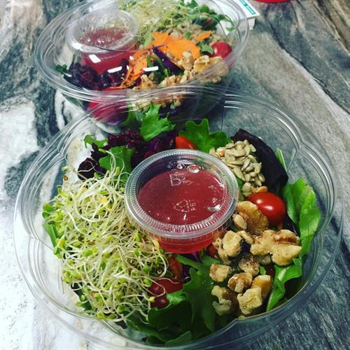 A variety of fresh daily salads to choose from