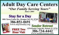 Stay For A Day Adult Day Health Center - Orange City