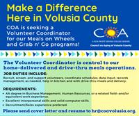 Volunteer Coordinator for Meals on Wheels
