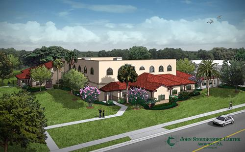 architect's rendering of our Family Life Center...coming December 2017!