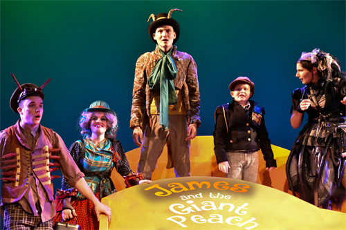 Production photo of James and the Giant Peach at the Athens Jan 2017