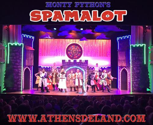 Production photo of Spamalot at the Athens Theatre July/August 2016