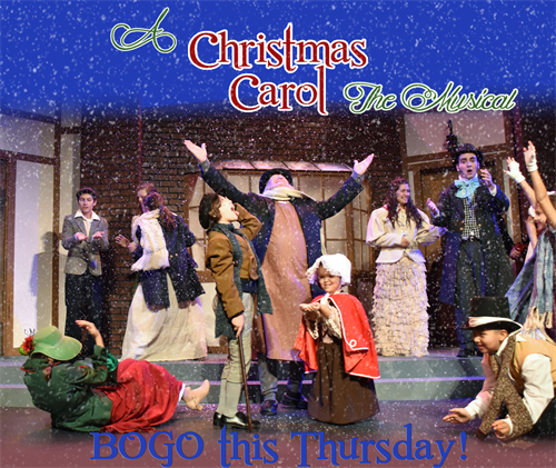 Production photo of A Christmas Carol at the Athens Dec 2016