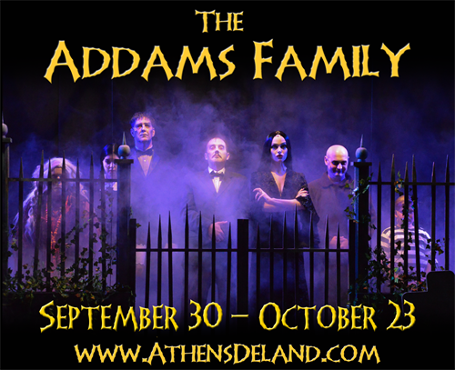 Production photo of Addams Family Musical at the Athens October 2016