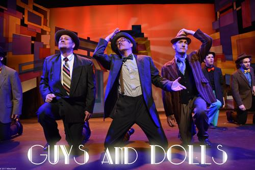 Production photo of Guys and Dolls at the Athens April/May 2017