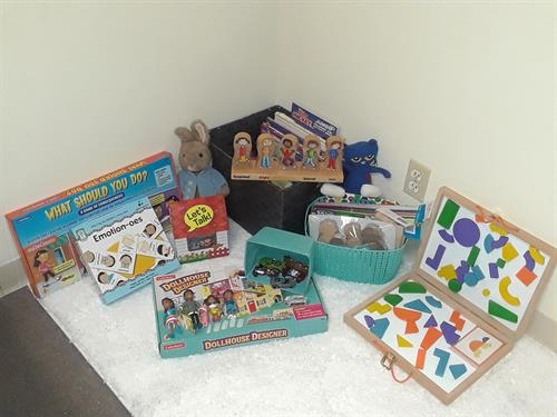 Some of the fun resources and tools I use to work with children in an interactive, play based appraoch.