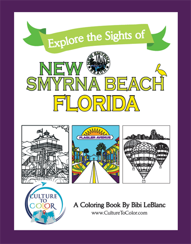 Explore the Sights of New Smyrna Beach, Florida - Coloring Book