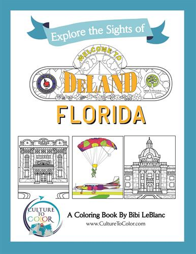 Explore the Sights of DeLand, Florida - Coloring Book