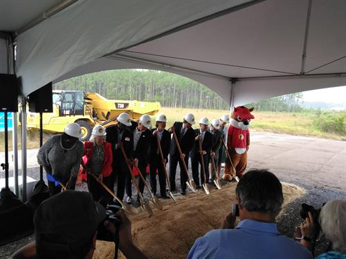 Groundbreaking ceremony for the new Buc-ee's in Daytona.