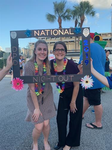Brittany and Brianna at National Night Out in DeLand