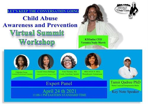 Let Keep The Conversation going   CHILD ABUSE PREVENTION /AWARNESS