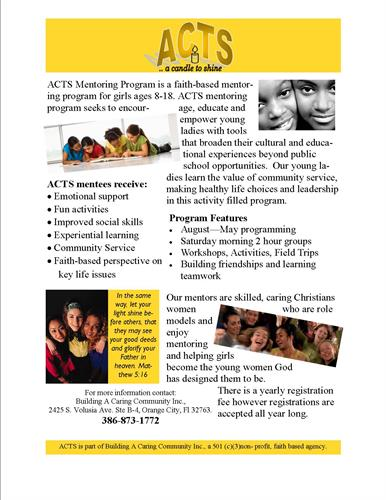 ACTS Mentoring Program