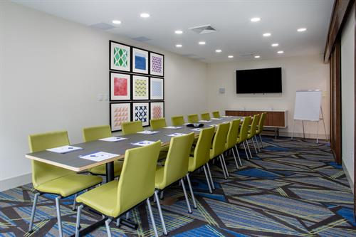 Meeting space is equipped with a large flat panel TV & HDMI connection,