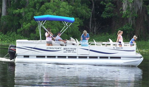 Half and Full Day Pontoon boat rentals available starting at just $125.