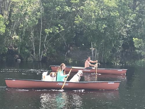 Canoeing on the St. Johns River