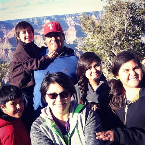 My beautiful family and I making a pit stop at the grand canyon while on a business trip to Arizona!