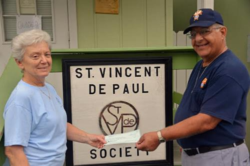 Donation to St. Vincent DePaul - September 2015