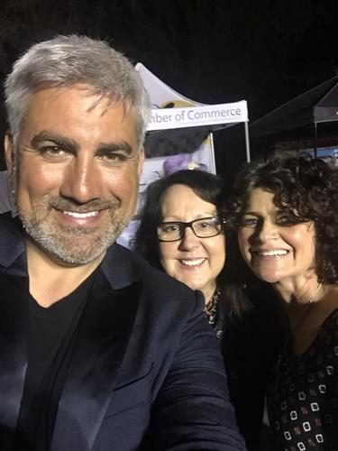 Team members wth Taylor Hicks