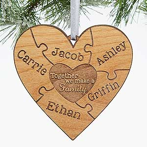 Engraved Wood Ornament