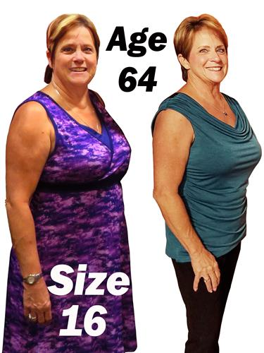 Personal Training Member went from a Size 16 to a 6