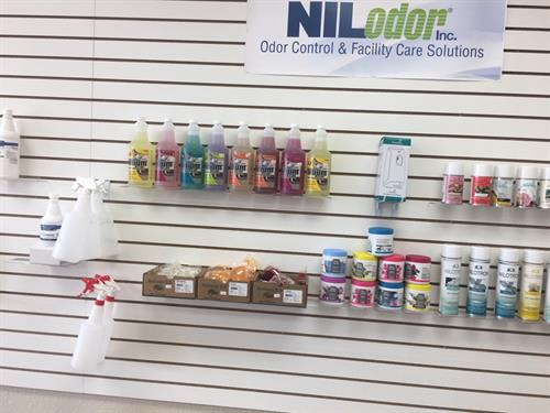Wide range of cleaning supplies featuring Niloder products