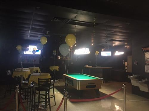 Host your next Party with us and get a reserved roped off area and decorations included at no Charge