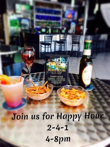 Happy Hour BOGO on anything & Free Bar Snacks 4-8pm