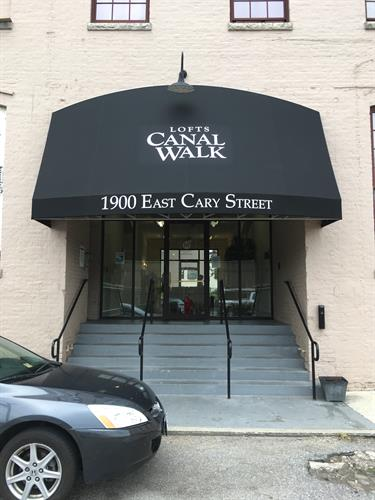 Entrance Awning with Lettering