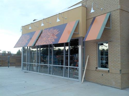 Storefront Awnings with Graphics