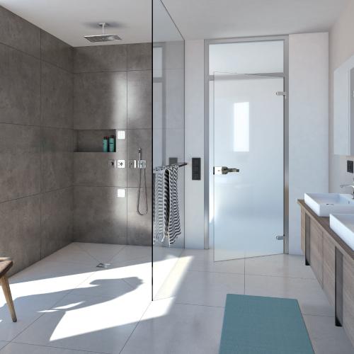 wedi Fundo Ligno Shower Base - Curbless Shower with Prefabricated wedi Shower Niche
