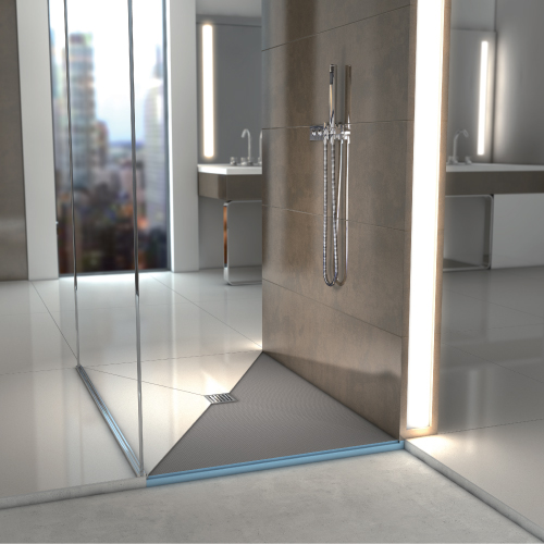 wedi Fundo Primo Shower Base - Curbed Shower