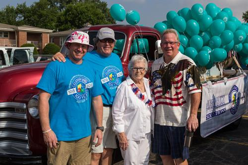 Pat, Dave, Veda, and Rich- 4th of July Parade 2018