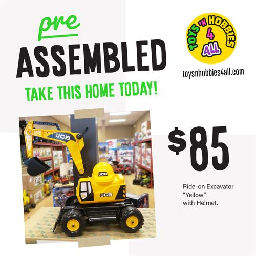 Stop in for Pre-Assembled ride-ons! toysnhobbies4all.com