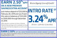 Webster Bank - 2.50% APY new personal or business savings account rate thru 12/31/19 and 3.24% (prime-2.26%) intro for 12 months on Home Equity Line of Credit*!!