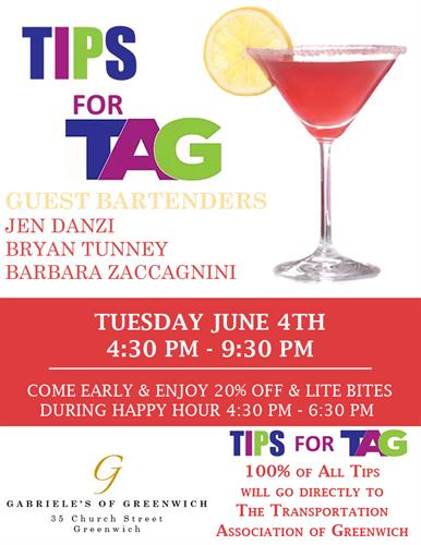 Tips for TAG! Tuesday June 4, 2019