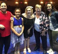 Regional Hospice patient and her family receive a dazzling welcome to Broadway's ''Frozen: the Musical!''