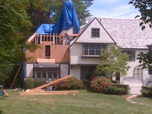 Storm damages-tarping