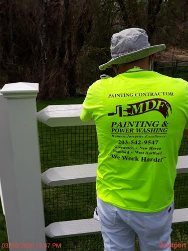 Let MDF complete your dream home with a new white fence!